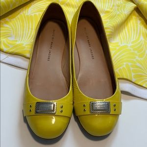 Marc by Marc Jacobs yellow ballet flats size 7,5